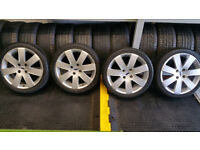 Ford Genuine 17 alloy wheels + 4 x tyres 215 40 17
