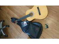 6 string Acoustic guitar with extras