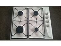 Whirlpool white Gas Hob in excellent condition. Only 6 months old and hardly used.