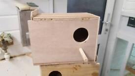 Budgie nest boxes
