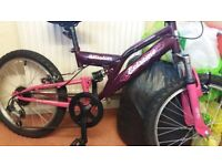 kids bikes/ girls/boys kids bikes made by raleigh mint condition
