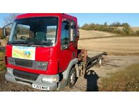 Daf Truck LF 45 150 Recovery Truck with 1 Ton Hiab & 17 Tonnes Winch / 8 months MOT