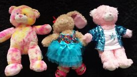 3 build bear Bears. Like new