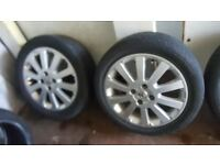 SET OF 4 VAUXHALL ALLOYS WITH TYRES