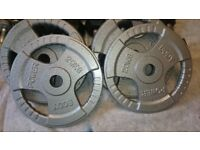 Olympic Weight Plates Cast Iron Grip 2 x 20kg