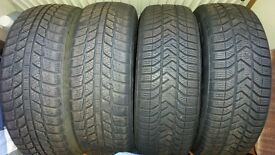 4 used winter tyres 185/ 60 R 15