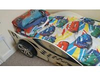 BARGAIN, KIDS RACING F1 BED, AMAZING FOR KIDS, NOT MATRESS, ONLY 85 POUNDS, PAID 290 POUNDS FOR IT.