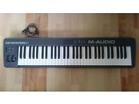 M-AUDIO KEYSTATION 61 II Semi-Weighted Keyboard Controller - USB/MIDI With Cable - MINT CONDITION