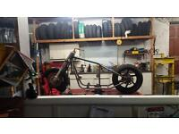 Hard tail chopper rolling chassis