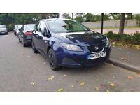 2009 SEAT IBIZA 1.2 S 5 DOOR HATCHBACK PETROL MANUAL BLUE GREAT DRIVE CHEAP INSURANCE NOT GOLF POLO