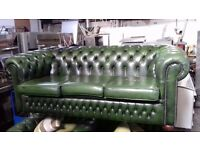 Green Chesterfield Suite