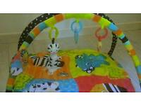Bright starts baby gym mat with toys