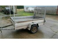 6ft 8 X 4 2 single axle trailer ramp door galvanised