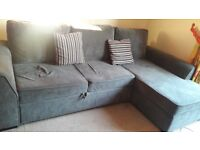 Sofa bed with storage for sale