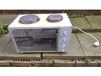 Electric mini oven with 2 hotplates - OVEN NOT WORKING