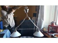 IKEA Kroby Pendant Lamp Double ES (Screw) Shortened Drop