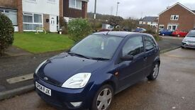 Ford fiesta ZETEC 2004 REG 1388 BLUE Good little first car