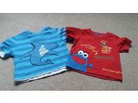Colourful t-shirts 6-9m