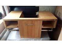 CRW Solid wood Log Color Rubberwood Cabinet Wash Stand RRP £199