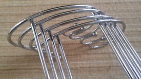 Chrome indoor drying/airing rails x 4 £10 the lot