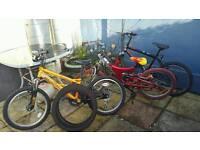 "3 x boys bikes 20"" wheel"