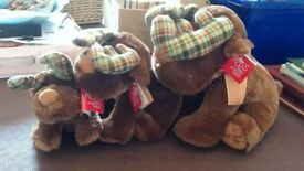 BNWT Set of 3 super soft reindeer by Russ Toys