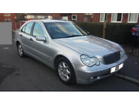 Mercedes C200 Classic SE Kompressor Auto 4dr silver 99,800 long MOT Full service history Hpi clear