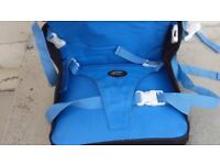 The First Years travel child booster seat.