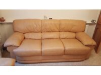 3 piece mustard sofa and chairs