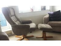 Manual Recliner Chair with footrest