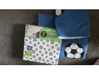 Single Bed Football Bedset, Blanket and Cushion Cover