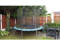 Full size 10 ft wide Garden Trampoline for sale. In very good condition . Reduced to only £40!!!
