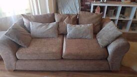 Selling 2+3 seater sofa with matching footstool.