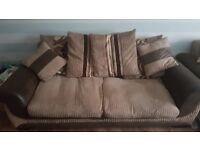 3 seater and cuddle corner sofa