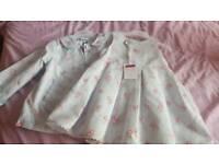 NEW girls Jasper conran designer set dress and jacket
