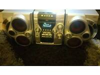HOME STEREO SYSTEM'RECORD,PLAYER, TWIN TAPE, DECKS,RADIO AND CD PLAYER