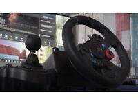 Logitech G29 Driving Force Racing Wheel & Pedals Plus Gear Shifter Bundle (PS4/PS3 & PC) UK-Plug