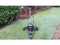golf trolley + battery + charger all in working condition selling due to new trolley