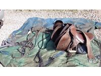 Saddle bridle and rugs for 13.2hh pony