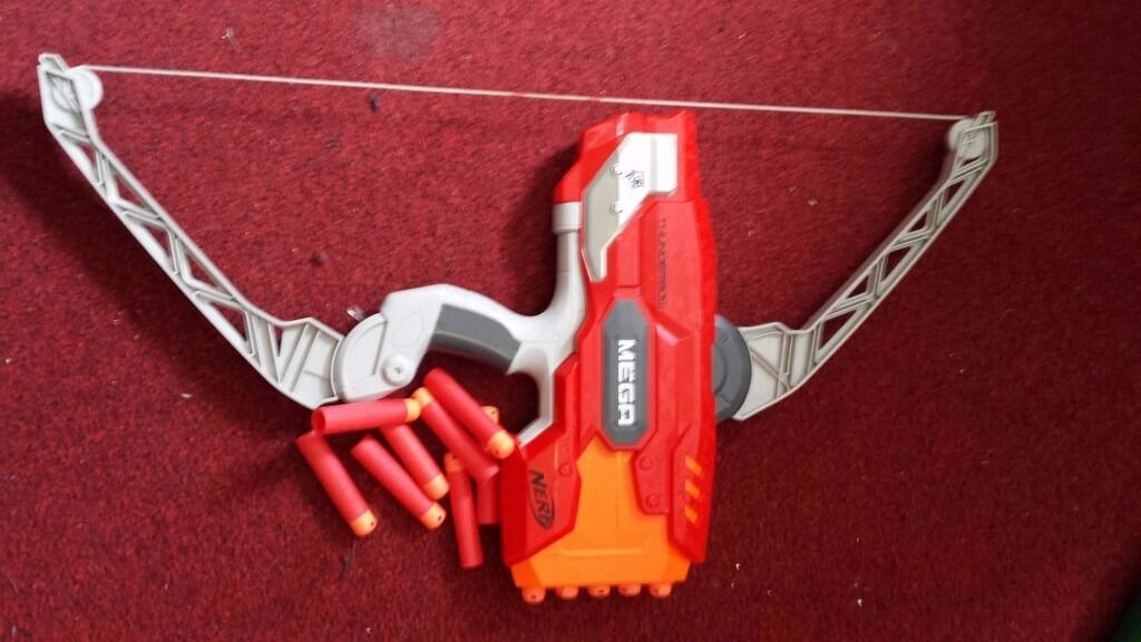 Nerf Thunderbowin Haslington, CheshireGumtree - NERF MEGA THUNDERBOW (N STRIKE ELITE) Excellent condition as pictured Comes with roughly a dozen bullets