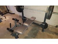 Olympic Bench with Olympic Weight 132kg