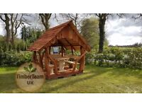 Wooden Handmade Gazebo Unique Garden Furniture Arbour Pergola BBQ Hut Hot Tub Shelter