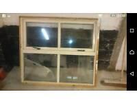 Double glazed window and internal door.