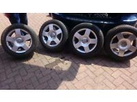 """SET OF AUDI 16 """" ALLOY WHEELS AND TYRES"""