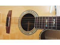 Stunning Cort CJ10X/12 12 String Electro Acoustic