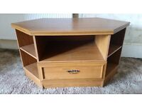 Wooden TV Cabinet with shelves. Great condition
