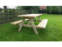 TimberLab Wooden Pub Bench - 4ft | 5ft | 6ft | 7ft | 8ft - delivery available