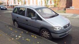 Vauxhall Zafira 2002 1.6 ltr 78k miles