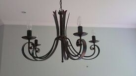 Pair of Light Fittings with five arms - John Lewis