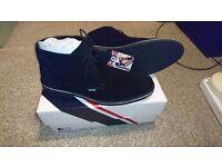 Lambretta mens black suede desert boots size 10 uk